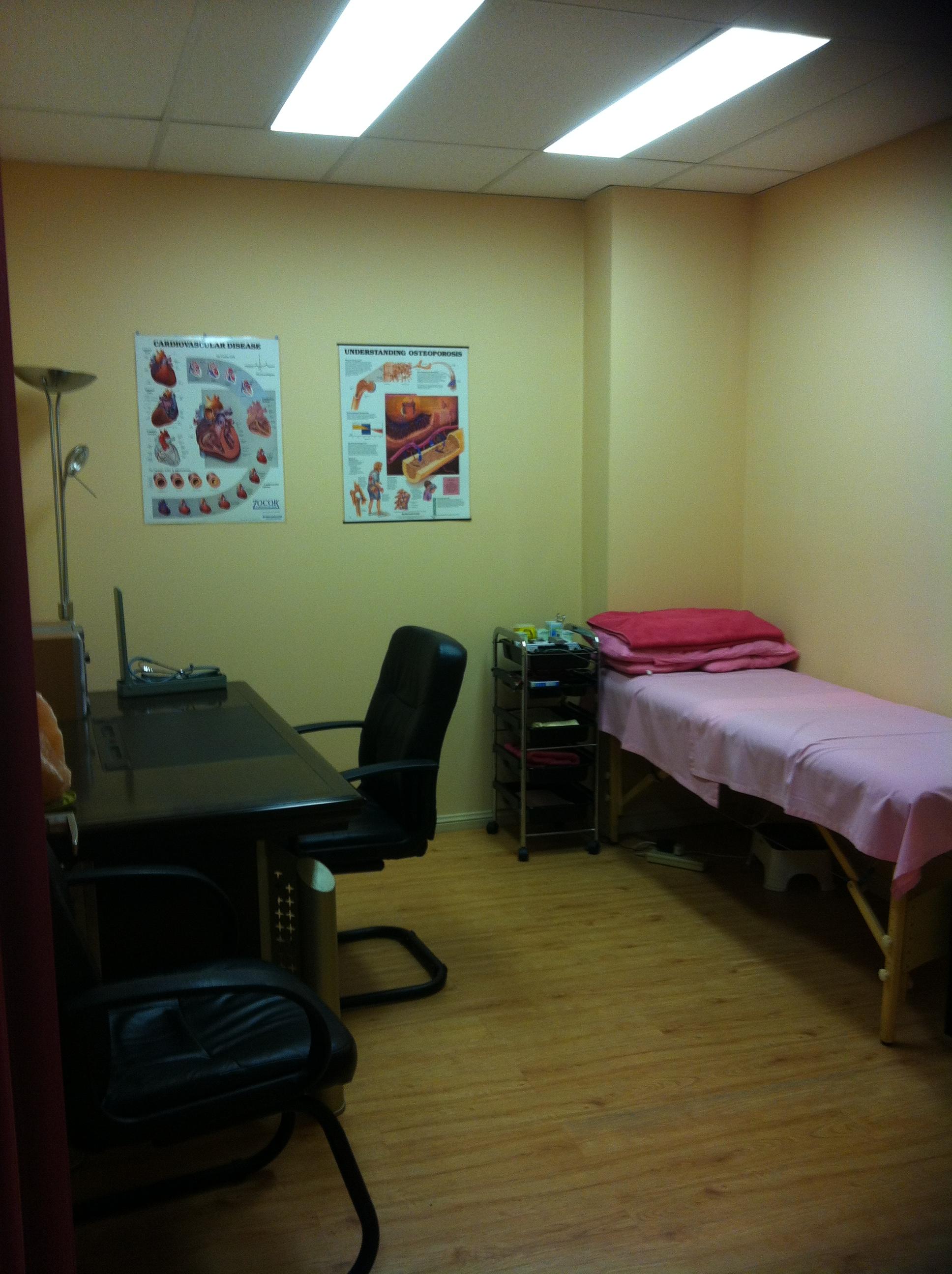 example setup for massage